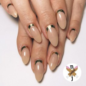Creative Half Moon Nail Art Designs Ideas To Try11