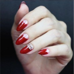 Creative Half Moon Nail Art Designs Ideas To Try15