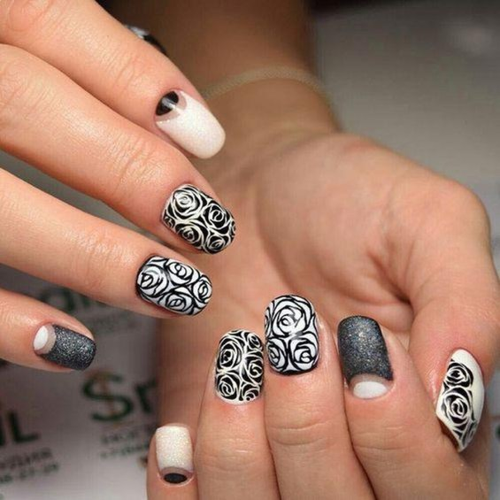 Creative Half Moon Nail Art Designs Ideas To Try28