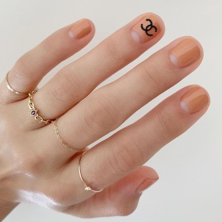 Creative Half Moon Nail Art Designs Ideas To Try43