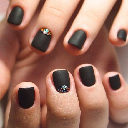 Creative Half Moon Nail Art Designs Ideas To Try46