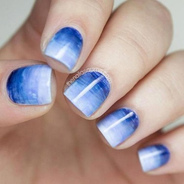 Unusual Watercolor Nail Art Ideas That Looks Cool06