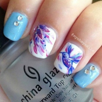 Unusual Watercolor Nail Art Ideas That Looks Cool08