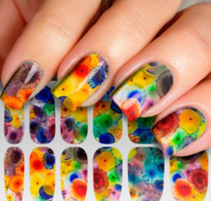 Unusual Watercolor Nail Art Ideas That Looks Cool26