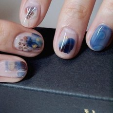 Unusual Watercolor Nail Art Ideas That Looks Cool35