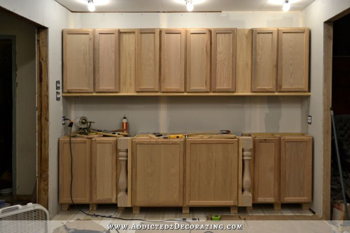 Wall Of Cabinets Finished For Now