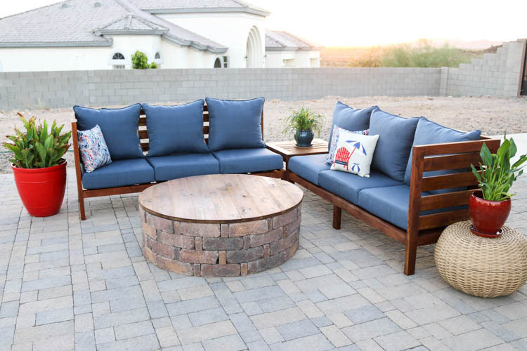 diy outdoor sectional sofa part 1