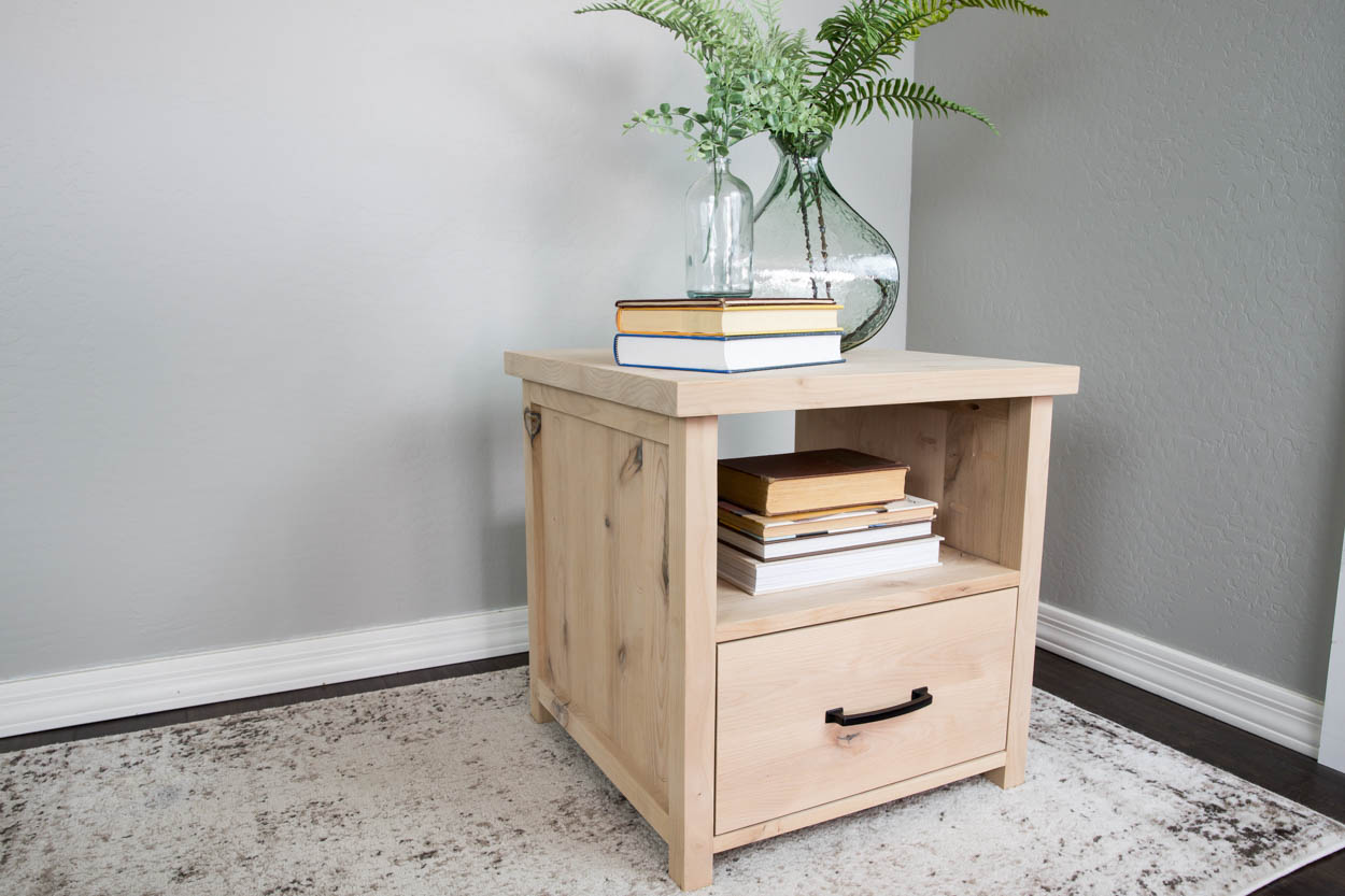 How To Build A Side Table With Storage Addicted 2 Diy