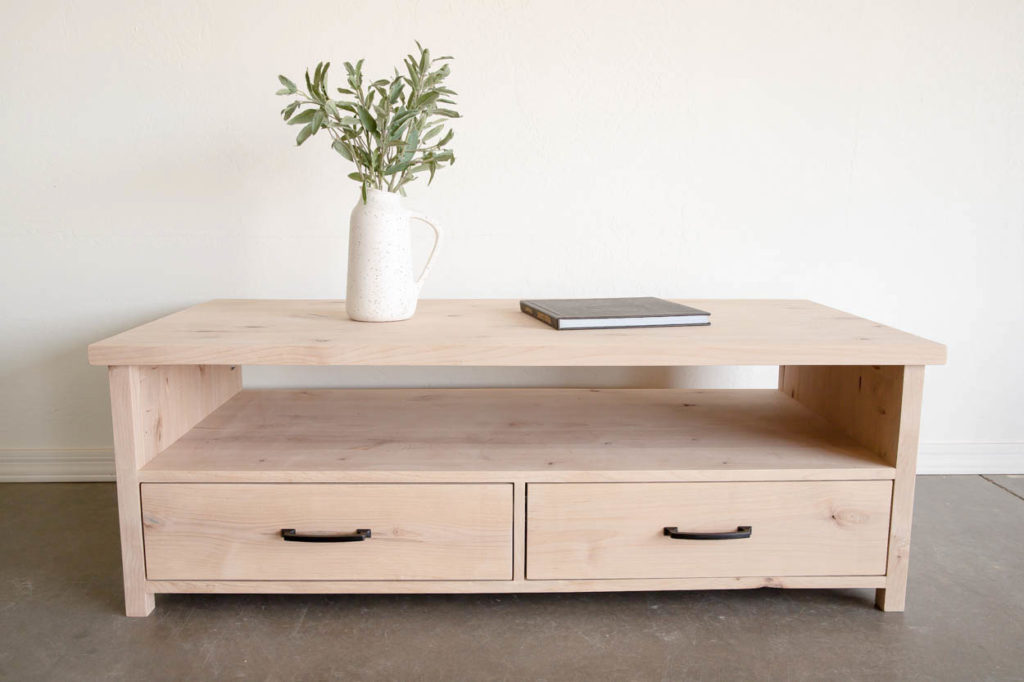 to build a coffee table with storage