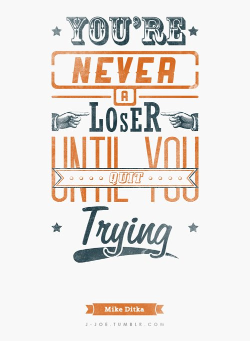 Motivation Quit Typography Picture Quote