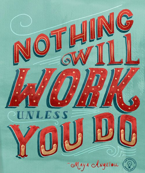 Motivation Typography Picture Quote Maya Angelou