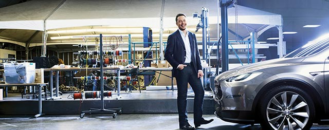Elon Musk Picture Tesla