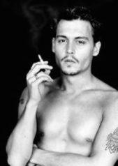 Johnny Depp Smoking A Cigarette