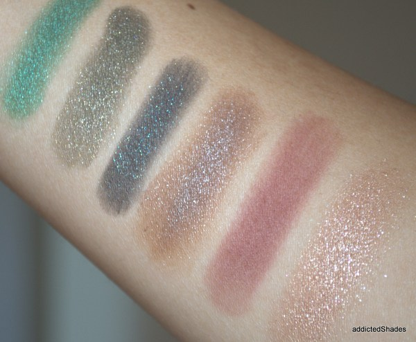 Colourpop Swatches of Empire, Hammered, Shameless, 3, Central Perk, Birthday Girl