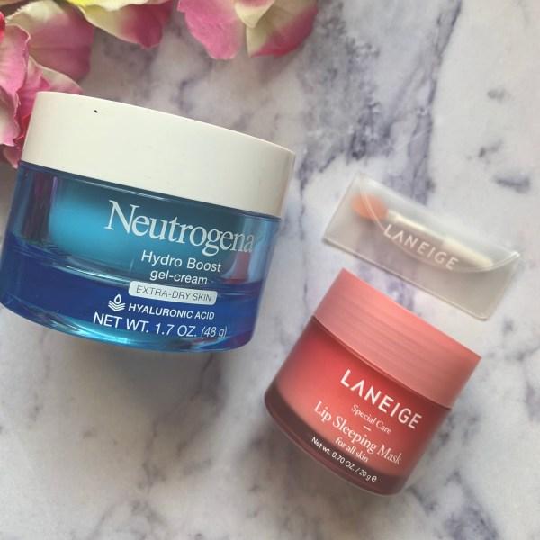 Neutrogena Hydro Boost Gel & Laneige Lip Sleeping Mask