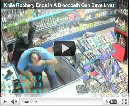 Graphic gun video…