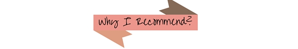 Why I Recommend-