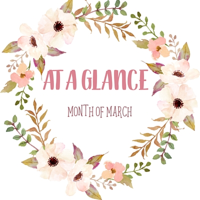 At A Glance: Month of March