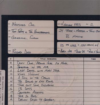 Tom Petty Gainesville Tape Box
