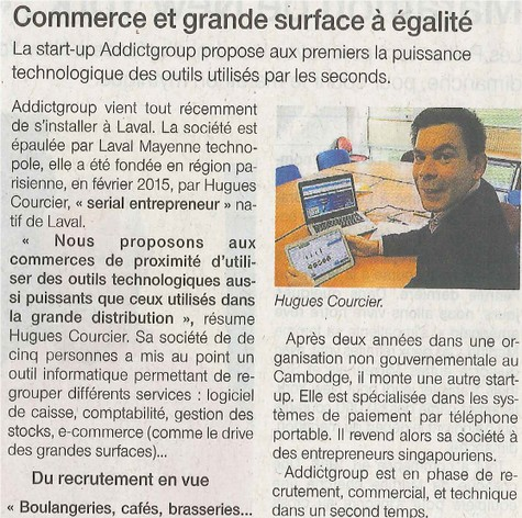 Article Addictill Ouest France