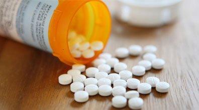prescription pills on table