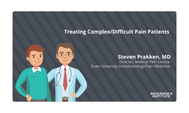 Treating Complex Pain Patients