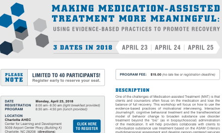 Making Medication-Assisted Treatment More Meaningful (Late April 2018)