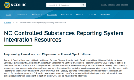 New North Carolina Controlled Substance Reporting System (CSRS) Now Available