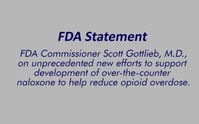 FDA Tries to Speed OTC Naloxone Products