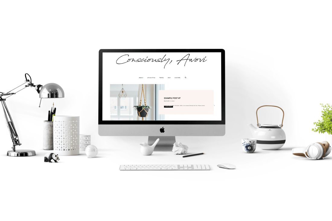 consciously awovi - a sustainable lifestyle wordpress blog website designed by addie fisher