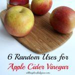 6 random uses for apple cider vinegar