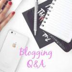 Blogging Q&A