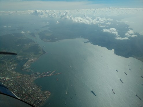 North end of the Panama Canal