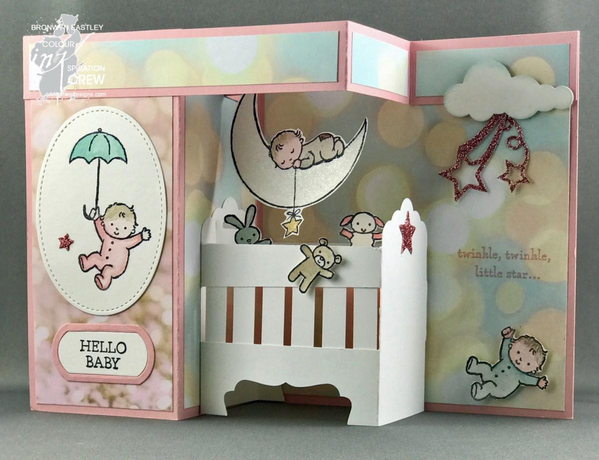 3д открытка с новорожденным