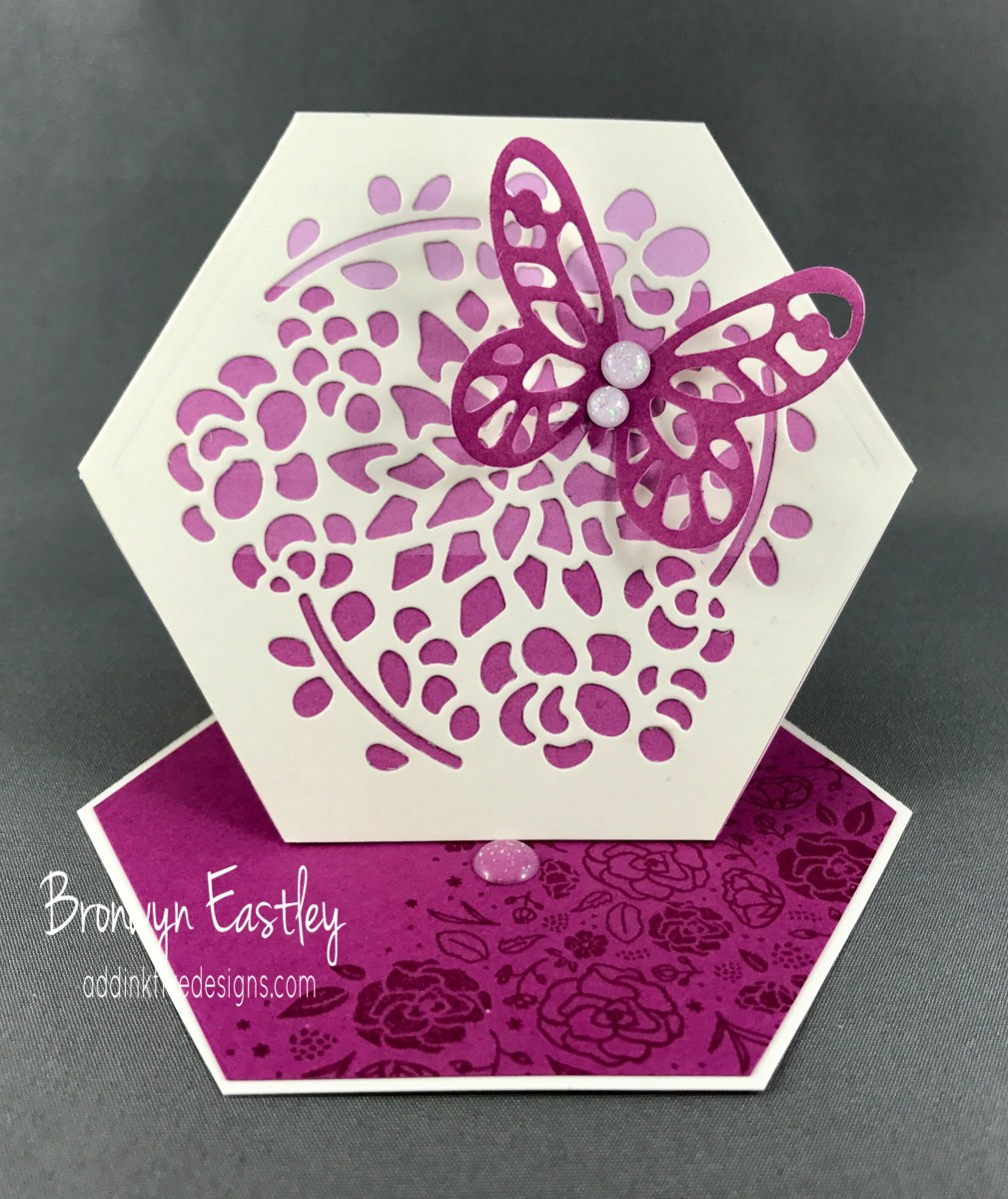 How to Make a Hexagon Easel Card Using the Window Box Thinlits Dies