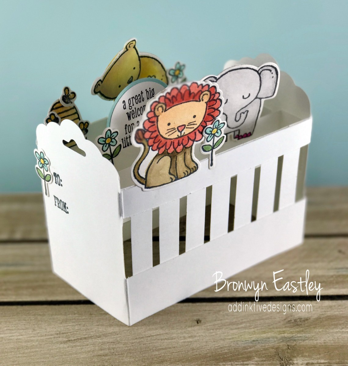 'A Little Wild' Baby Crib Pop-Up Card Tutorial