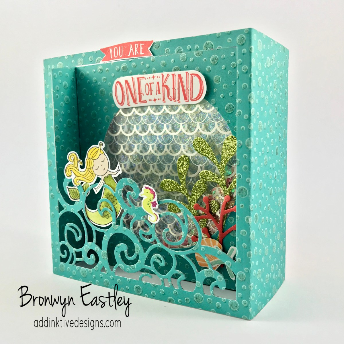 Display Stamper Blog Hop 02 - Shadow Box Shaker Card