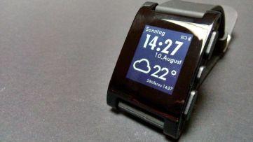 Watchface mit Temperaturanzeige