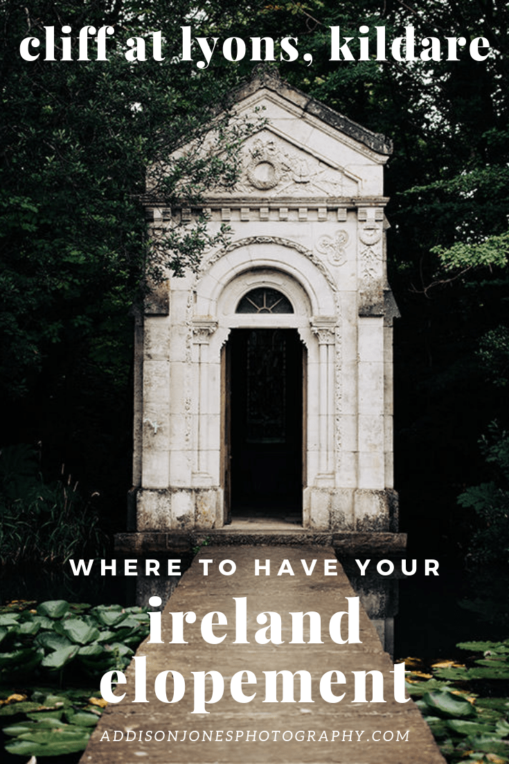 where to have your ireland elopement, white chapel at cliff at lyons, ireland