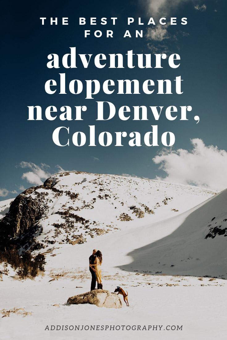 adventure elopements near Denver, Colorado