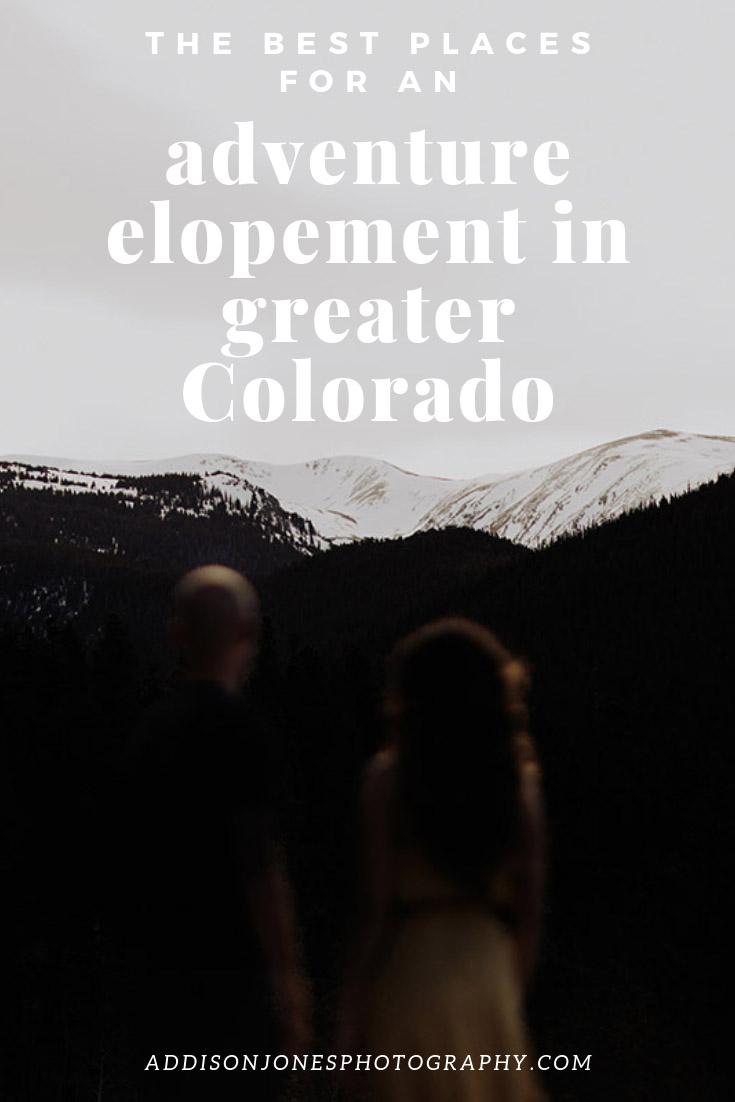 adventure elopement spots in greater colorado