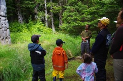 Learning about Haida culture at SGang Gwaay