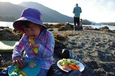 Salmon BBQ on the beach - MMMM