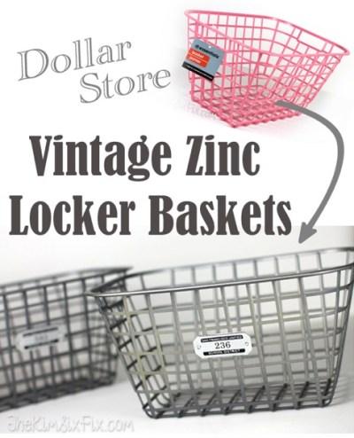 Dollar-Store-Vintage-Zinc-Locker-Baskets
