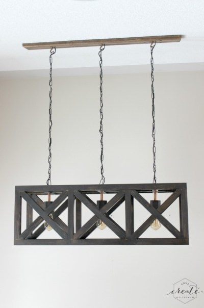 wooden DIY Hanging Chandelier