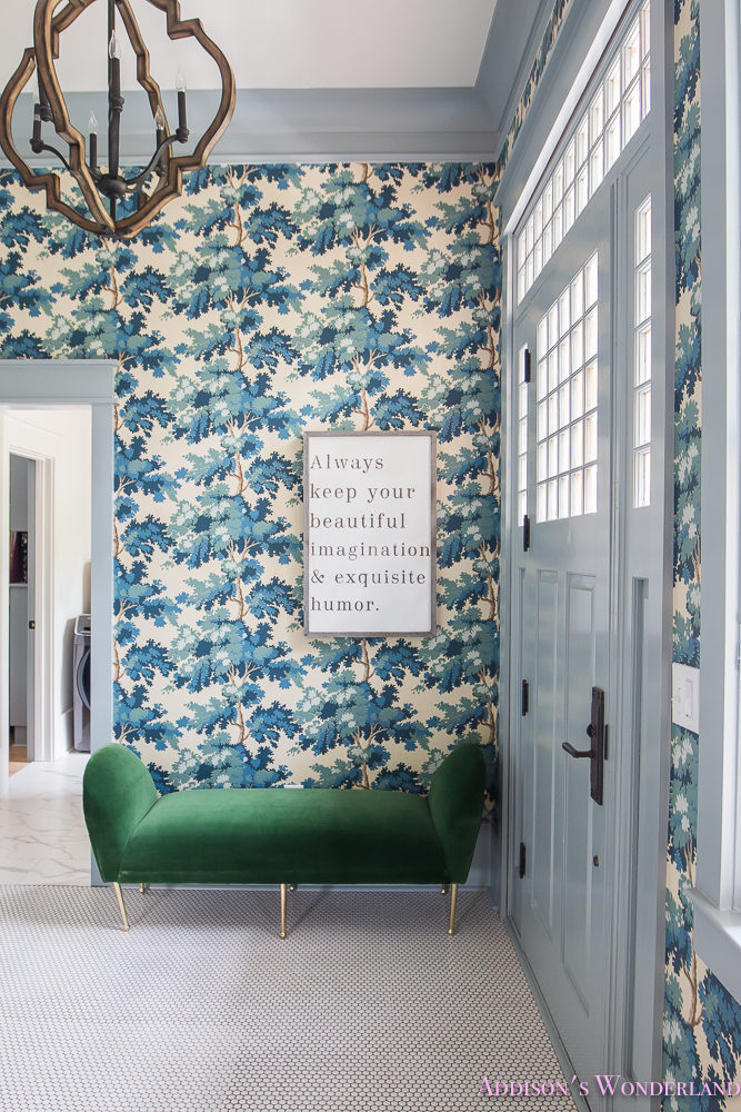 Our Dreamy Blue Wallpapered Mud Room Addison S Wonderland
