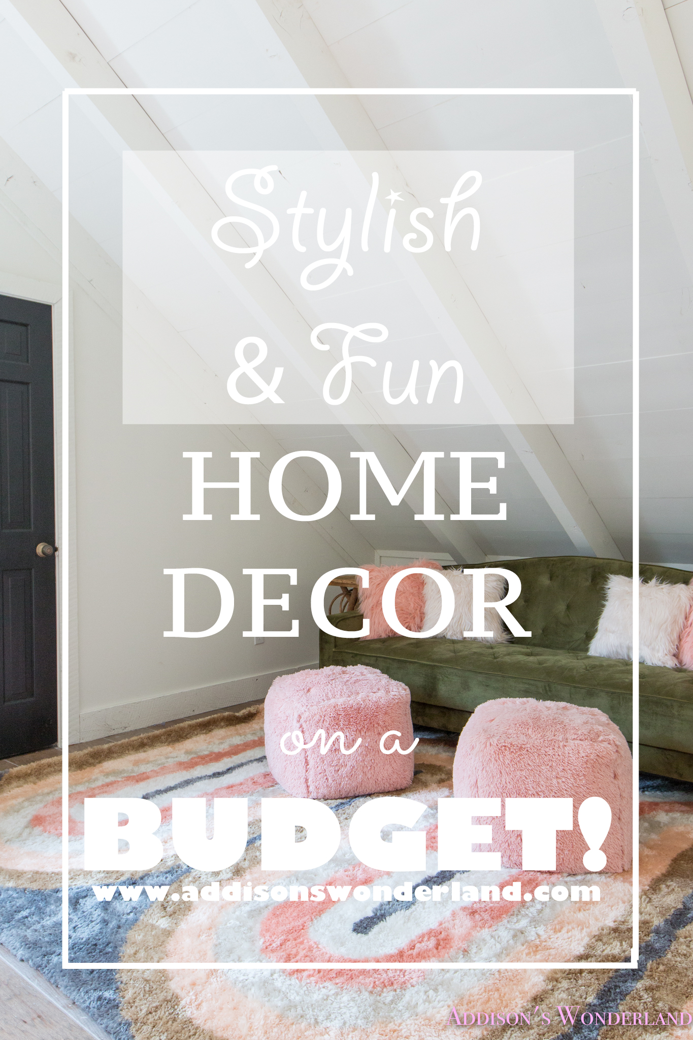 Our Cabin Loft Reveal with Wal Mart Home Decor  XOXO  Brittany Hayes