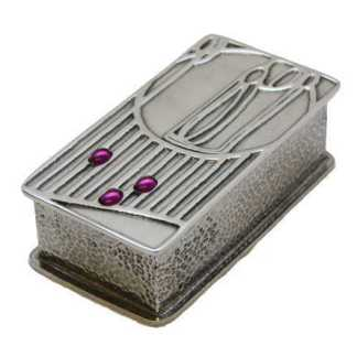 A E Williams Rennie Mackintosh Pewter Box