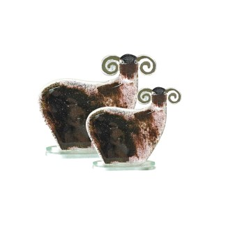 Nobile Glass Fused Glass Black Sheep Small