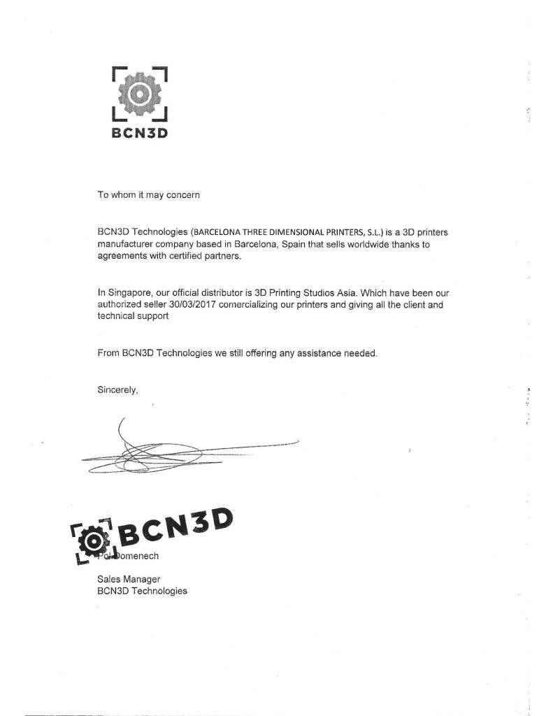 BCN Certificate